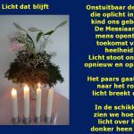 Bloemstuk 16 december, 3e advent